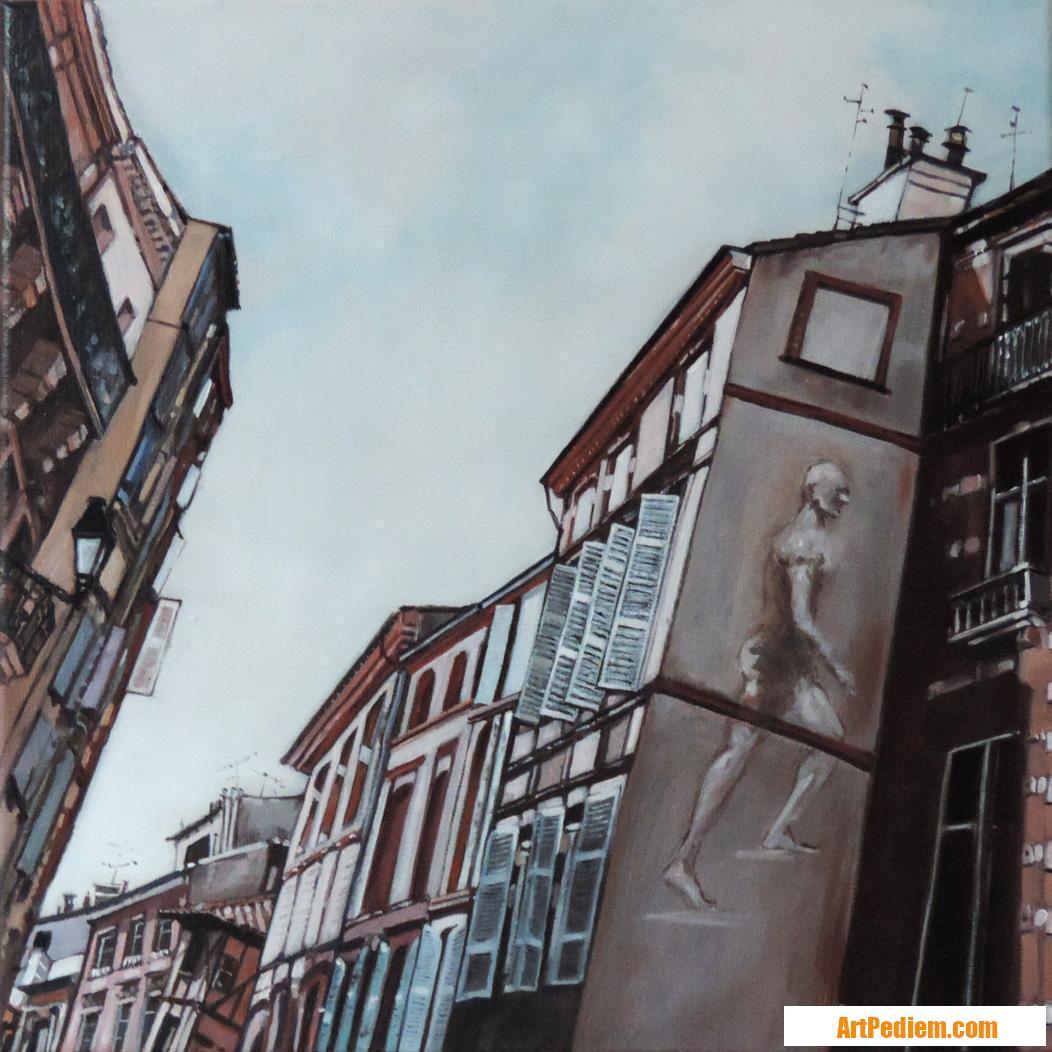 Oeuvre L'homme qui monte de l'Artiste Hugues Renck