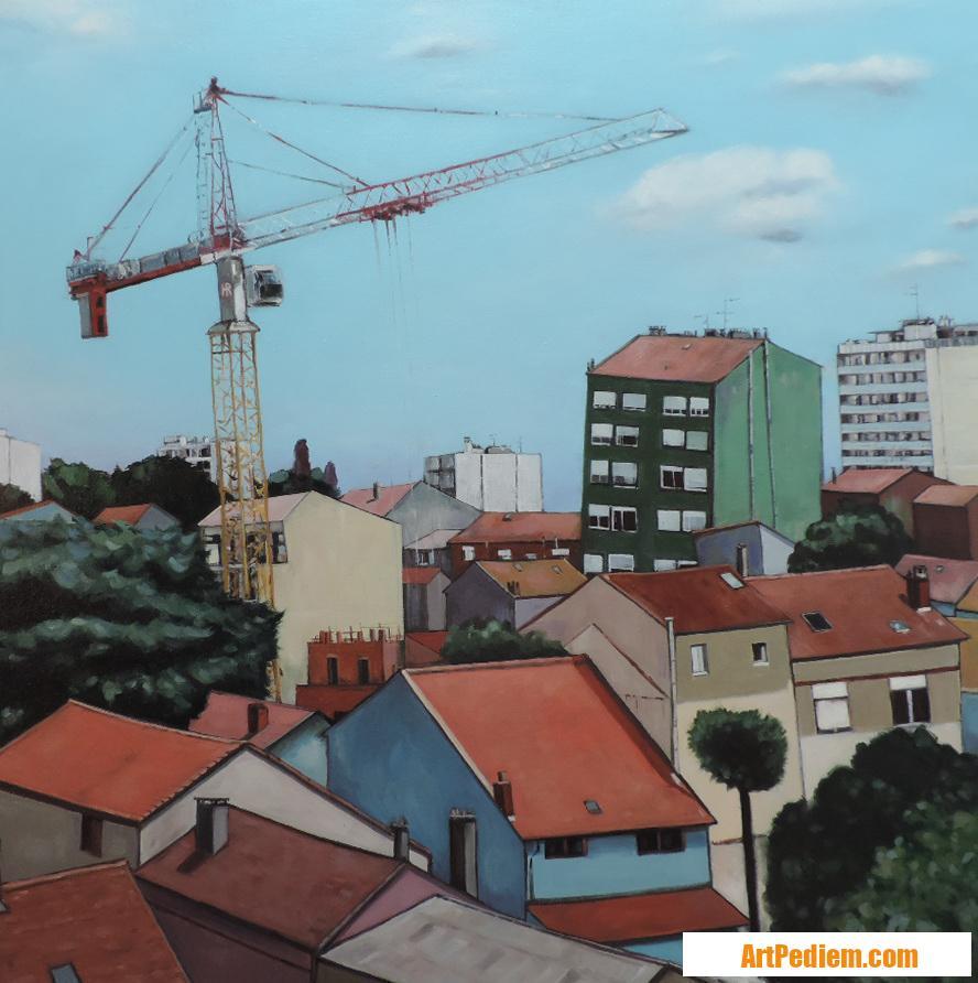 Oeuvre La grue de l'Artiste Hugues Renck