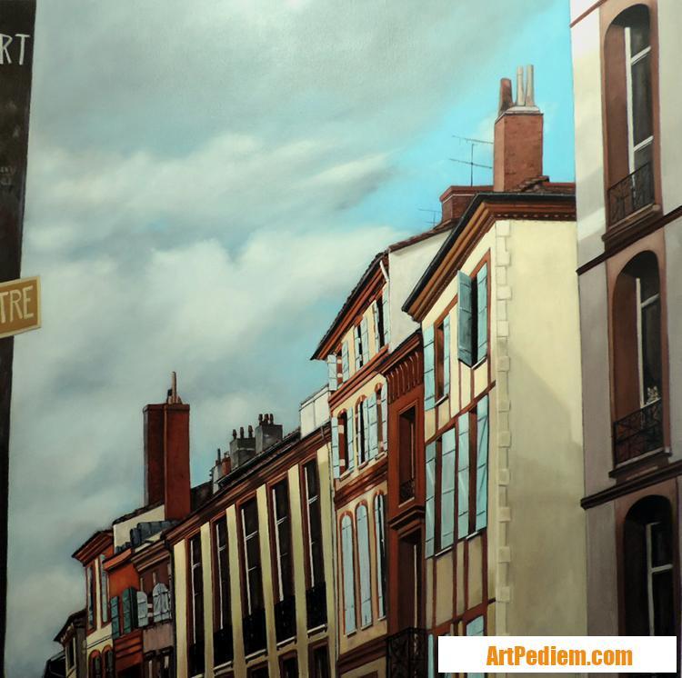 Oeuvre Le chat à sa fenêtre de l'Artiste Hugues Renck