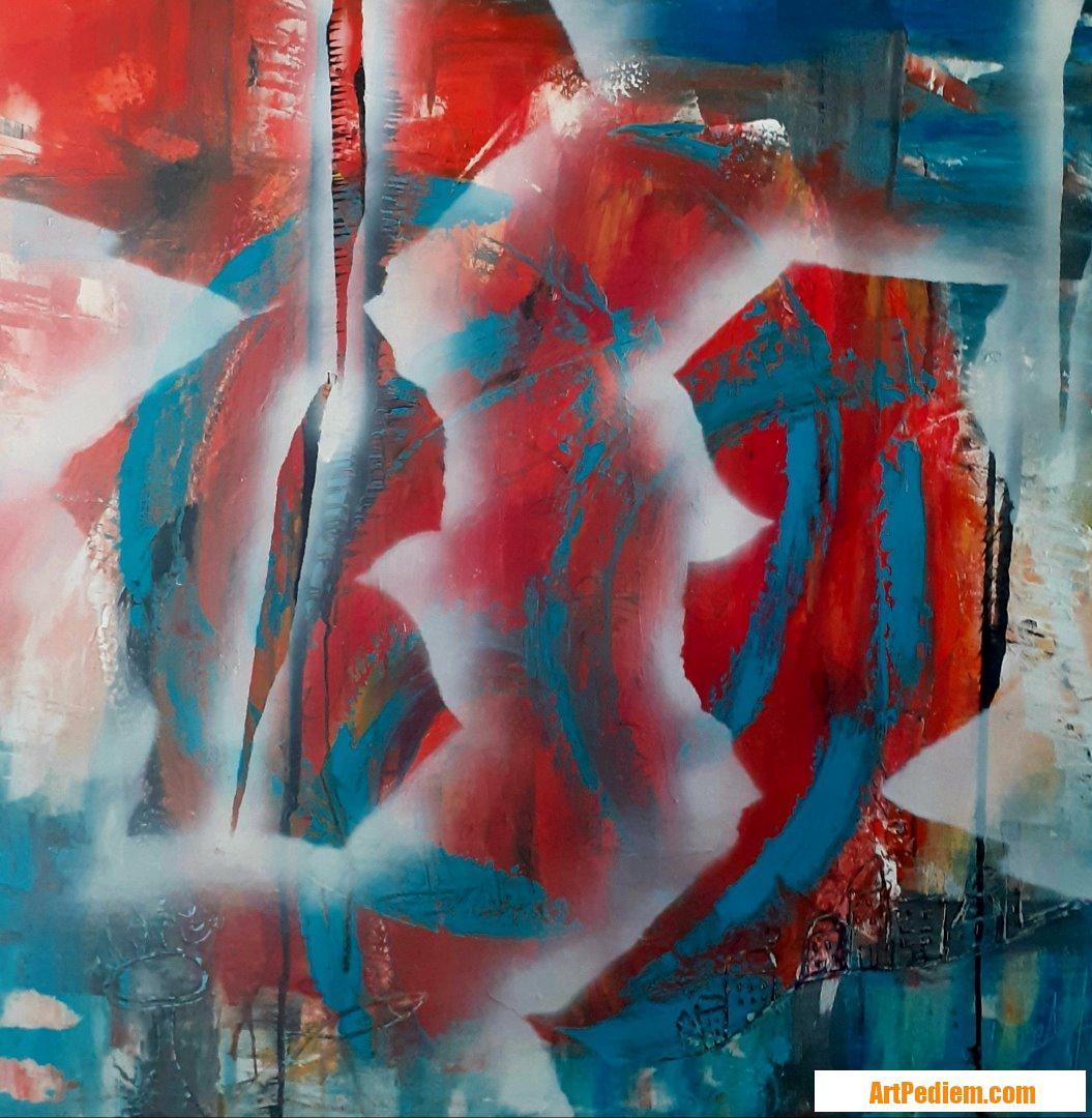Oeuvre Abst2-2020 de l'Artiste MAUD SAINT MARTIN