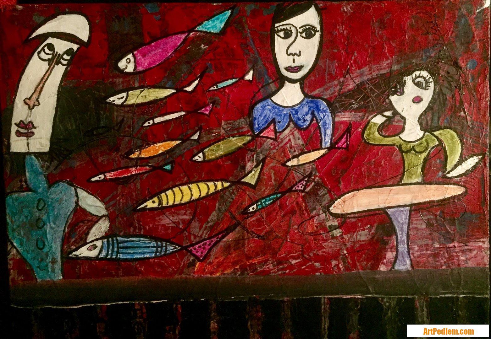 Oeuvre Mixte de l'Artiste MAUD SAINT MARTIN