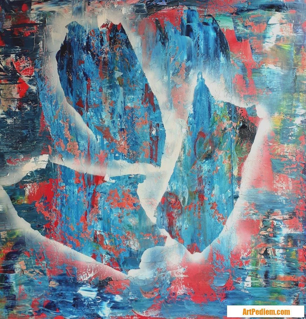 Oeuvre Abst3-2020 de l'Artiste MAUD SAINT MARTIN