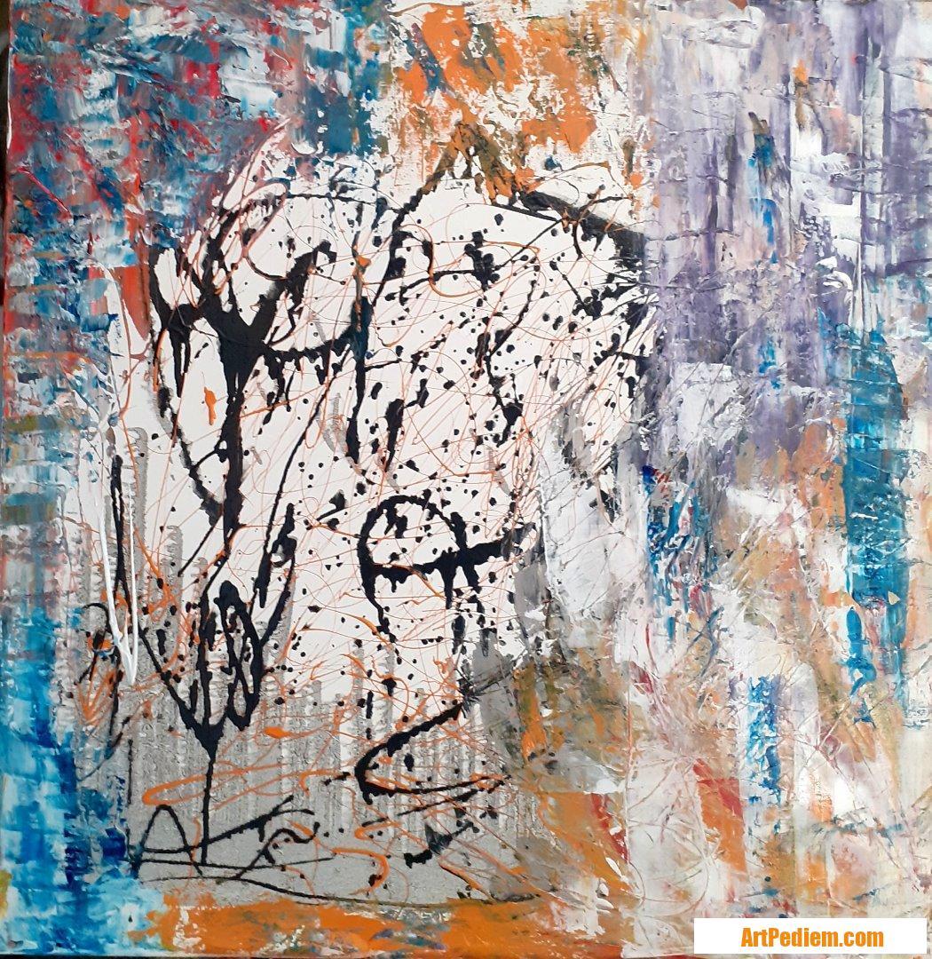 Oeuvre Abst4-2020 de l'Artiste MAUD SAINT MARTIN