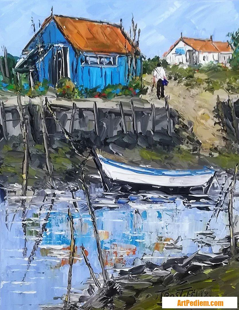 Oeuvre La Baudissiere ( l'ile d'Oléron ) de l'Artiste Trost Félix