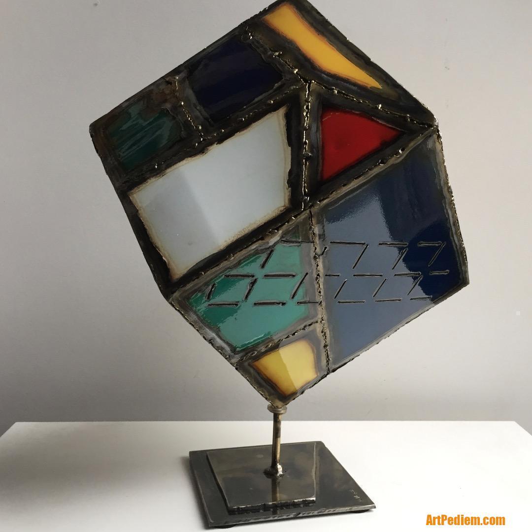 Oeuvre Cube de l'Artiste Gil.S
