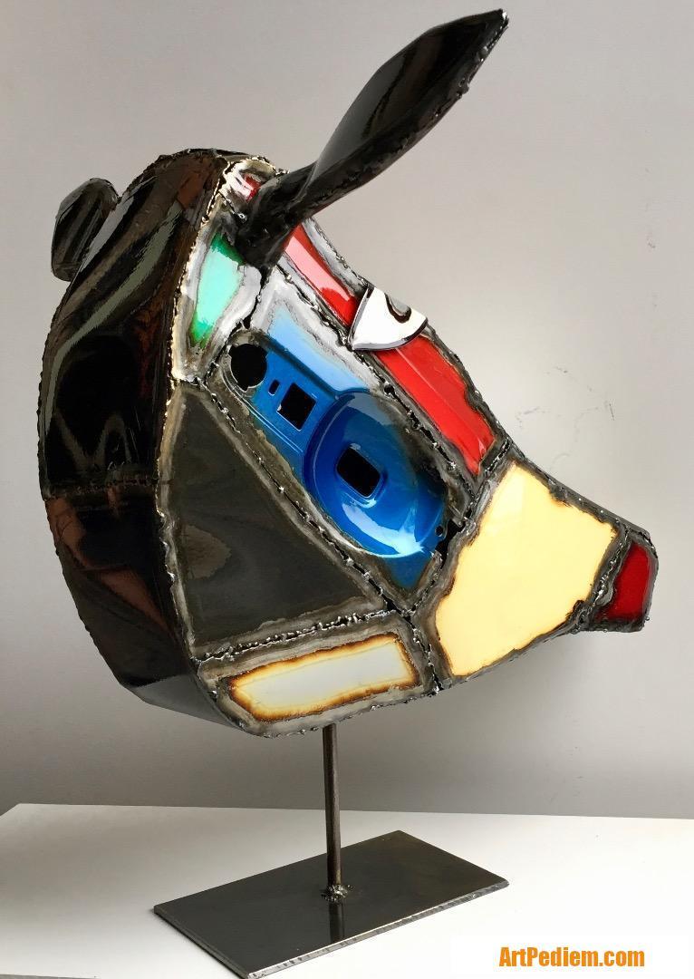 Oeuvre Trophée vache n° 3 de l'Artiste Gil.S