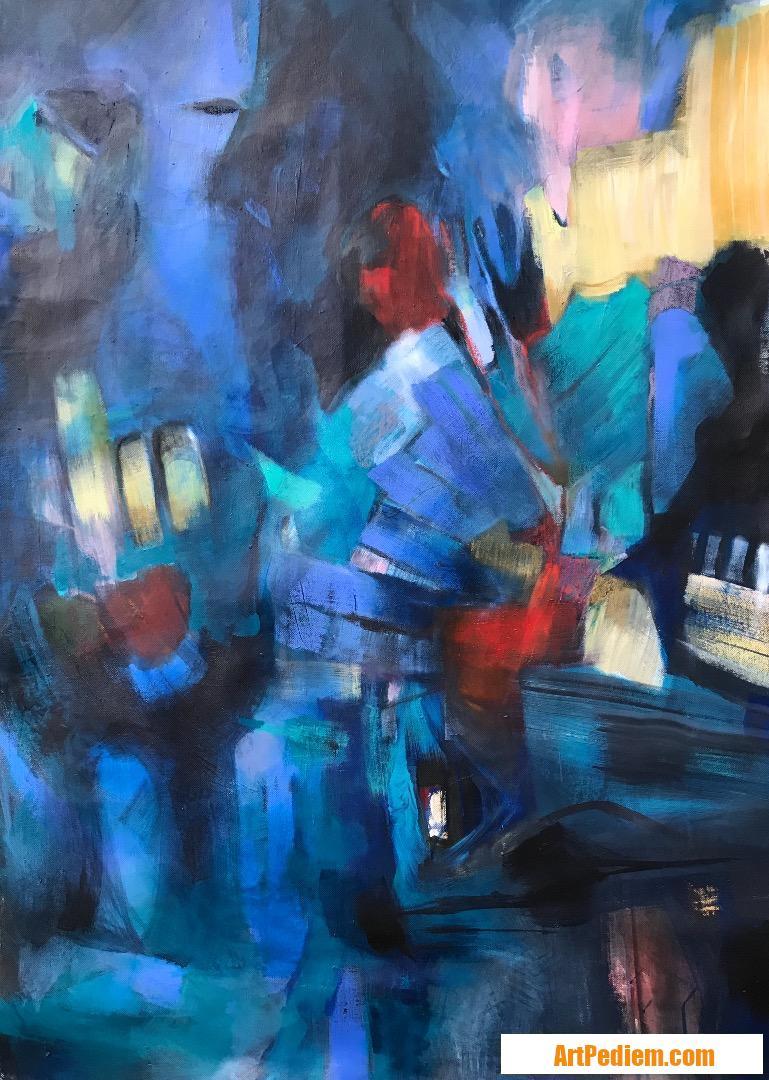 Oeuvre CMM58 - Sur les toits de l'Artiste Catherine Mignot-Masi - CMM
