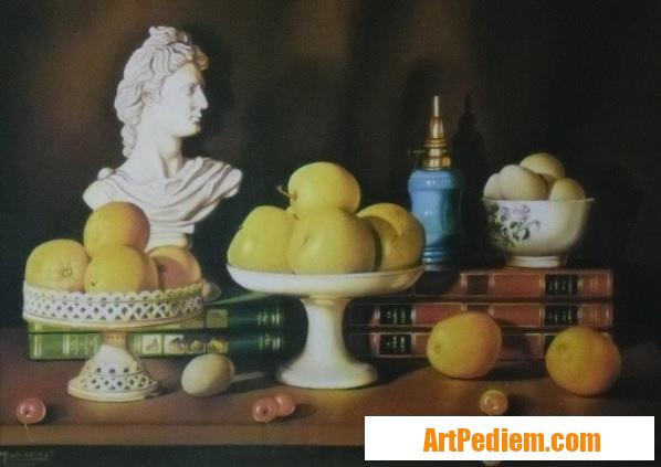Oeuvre Nature morte aux oeufs (50 x 65) 800 euros de l'Artiste Robardet
