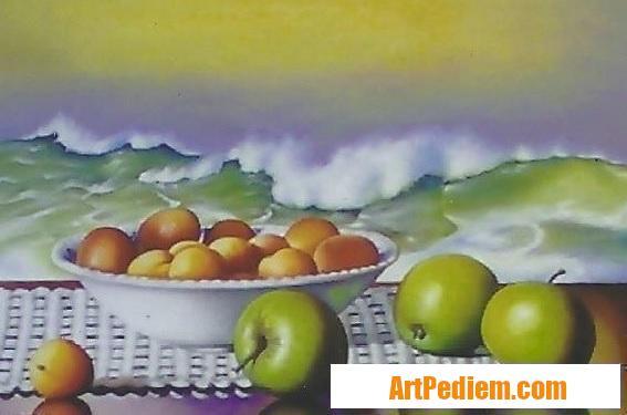 Oeuvre Nature morte aux abricots (collection privé) de l'Artiste Robardet