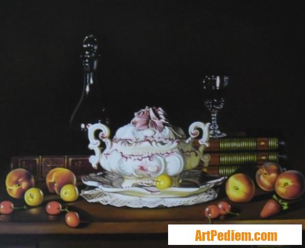 Oeuvre Nature morte à la soupiére (50 x 60) 800 euros de l'Artiste Robardet