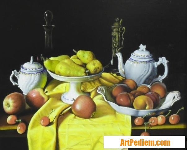 Oeuvre Nature morte aux pommes (collection privé) de l'Artiste Robardet
