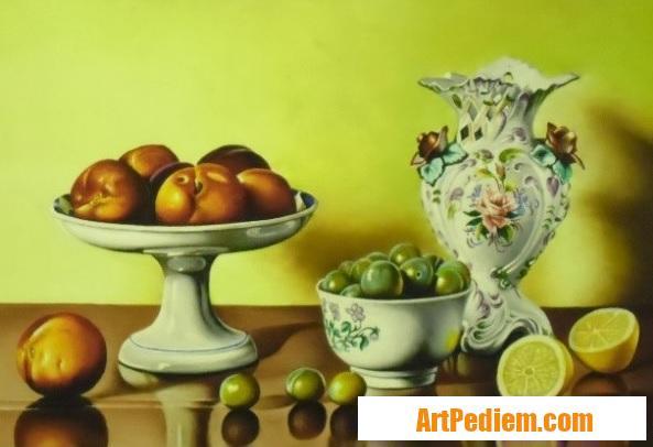 Oeuvre Nature morte au citron (0,40 x 0,50) 550 euros de l'Artiste Robardet