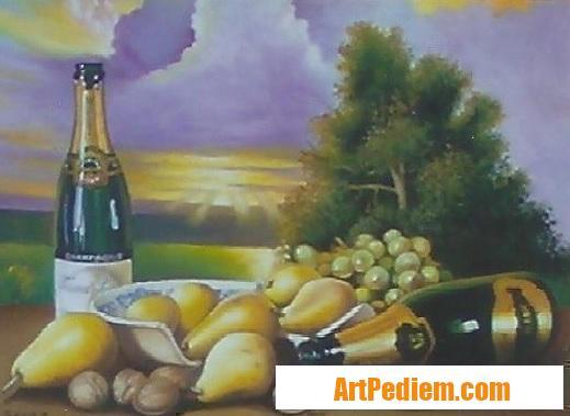 Oeuvre Nature morte aux noix (0,50 x 0,40) 350 euros de l'Artiste Robardet