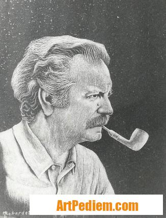 Oeuvre Portrait du chanteur et compositeur Georges BRASSENS (1921 - 1981) pas en vente de l'Artiste Robardet