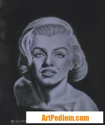 Oeuvre Portrait de Marilyn MONROE (1926 - 1962) pas en vente de l'Artiste Robardet