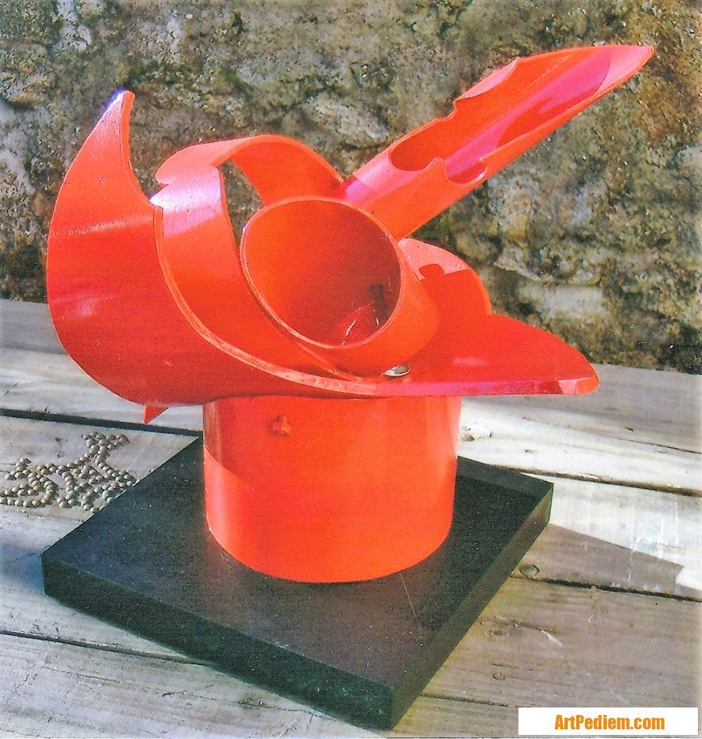 Oeuvre SCULPTURE -TUBE PETITE ROUGE Dimensions 37 x 50 x 35 de l'Artiste servin
