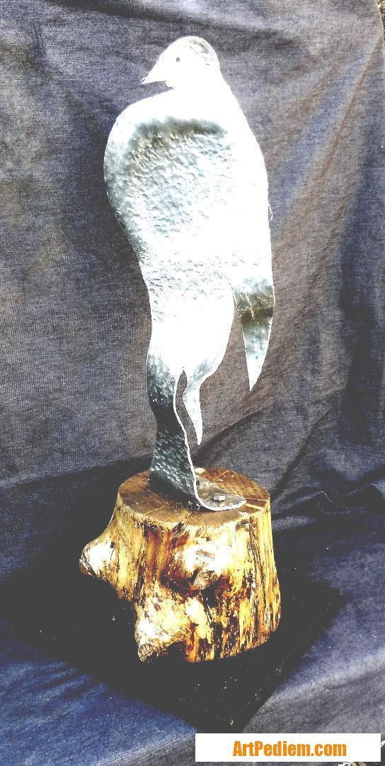 Oeuvre Oiseau perché (alu) (2016) de l'Artiste servin