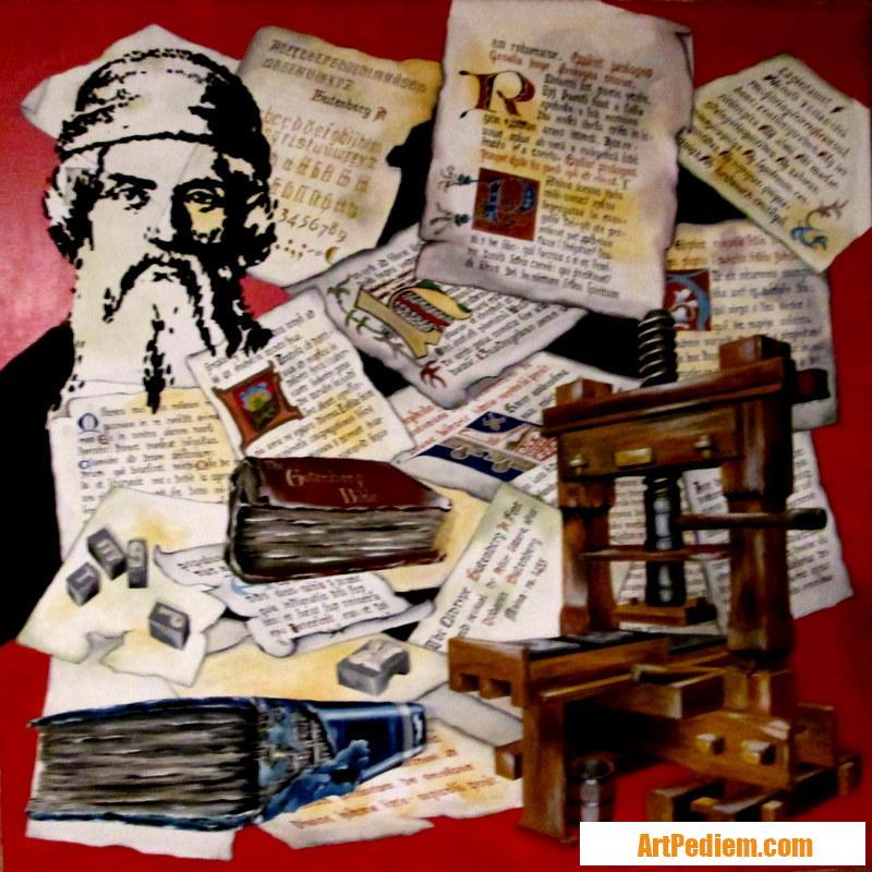 Oeuvre Johann Gutenberg de l'Artiste PACAUD