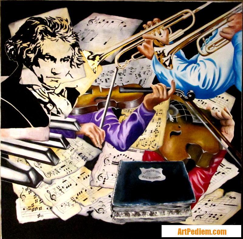 Oeuvre Wolfgang  Van Beethoven de l'Artiste PACAUD