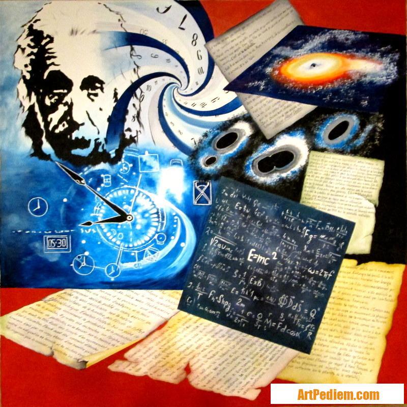 Oeuvre Albert Einstein de l'Artiste PACAUD