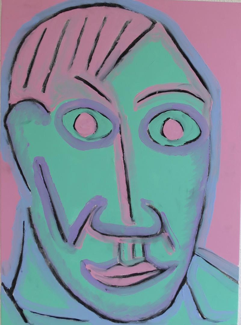 Oeuvre acrylique te fusain de l'Artiste jean-baptiste des gachons