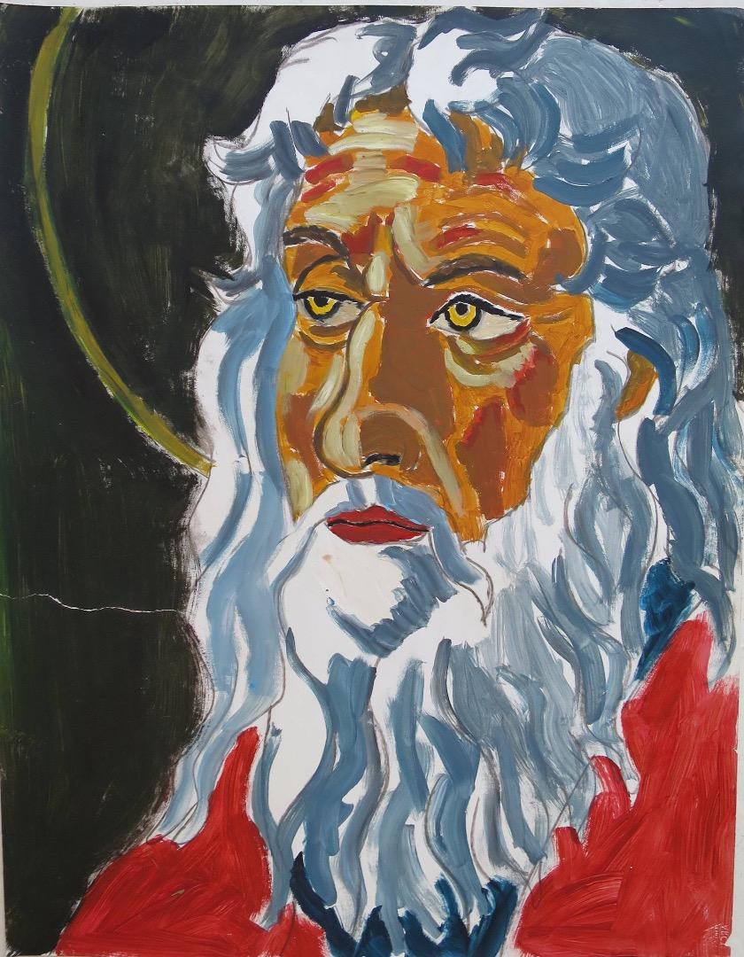 Oeuvre acrylique sur papier de l'Artiste jean-baptiste des gachons