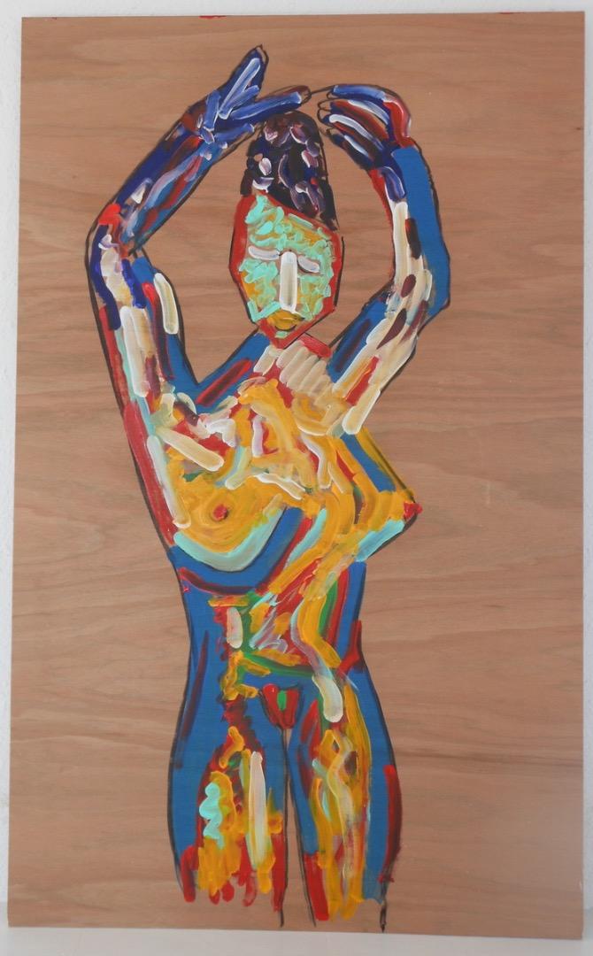 Oeuvre acrylique sur bois de l'Artiste jean-baptiste des gachons