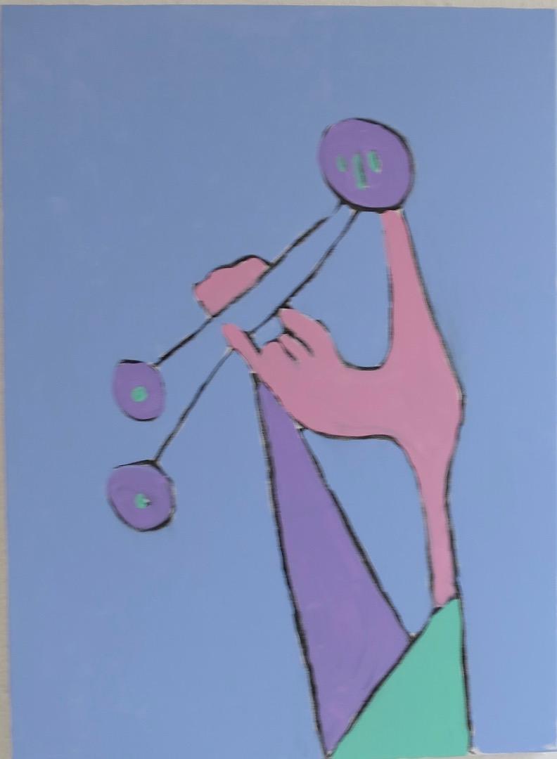 Oeuvre acrylique et fusain de l'Artiste jean-baptiste des gachons