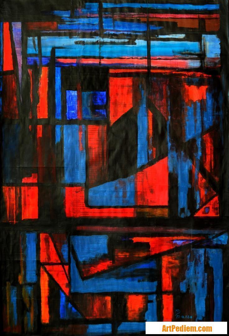 Oeuvre Effet de vitrage colorisés 02 de l'Artiste Michel Boettcher