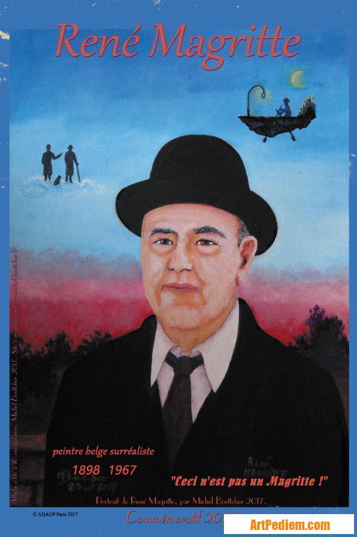Oeuvre affiche René Magritte 2017 de l'Artiste Michel Boettcher