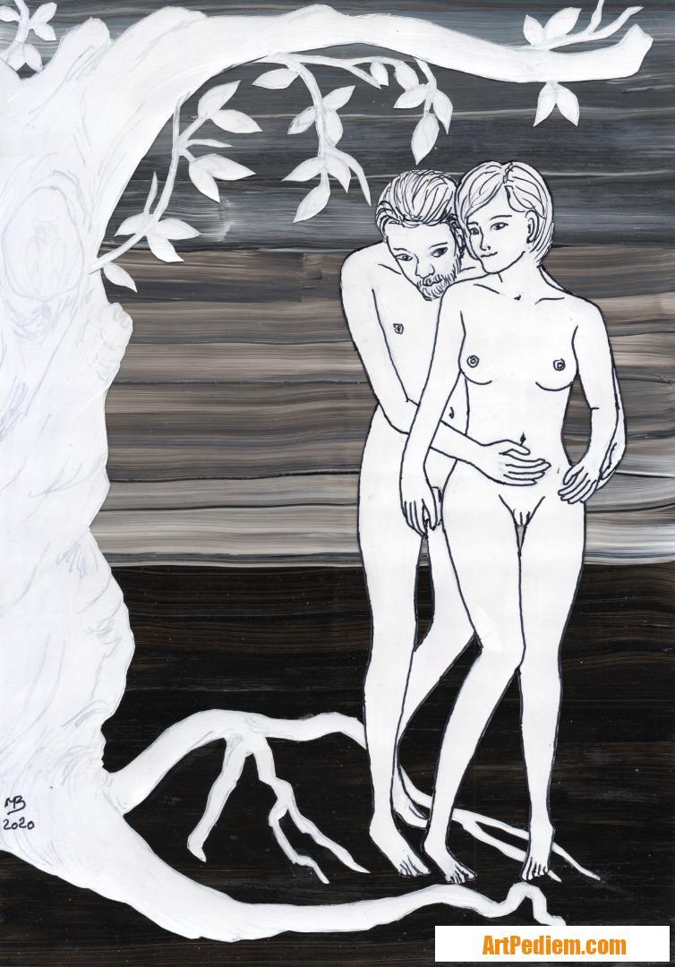 Oeuvre Athécia & Athécix aux amours célestes de l'Artiste Michel Boettcher