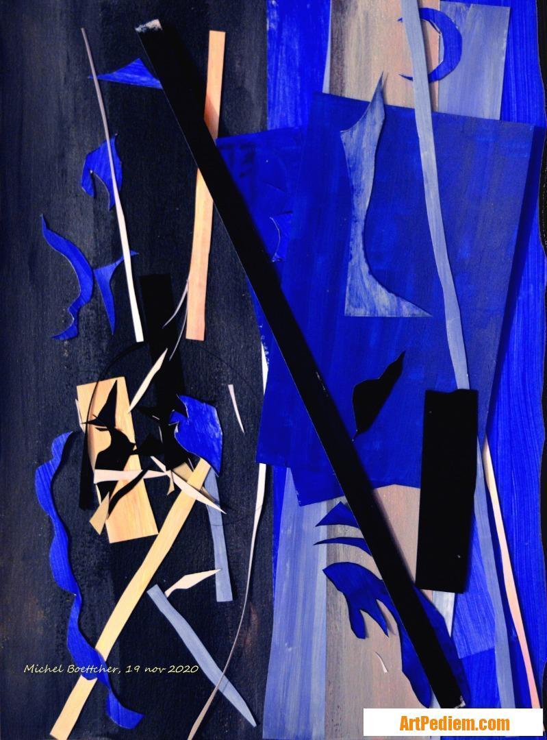 Oeuvre Papiers peints 03 de l'Artiste Michel Boettcher
