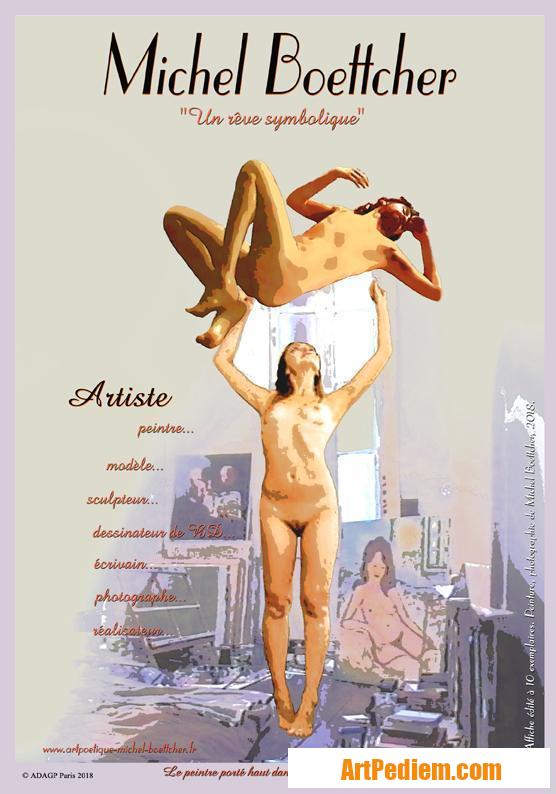 Oeuvre affiche Michel Boettcher symbolique de l'Artiste Michel Boettcher