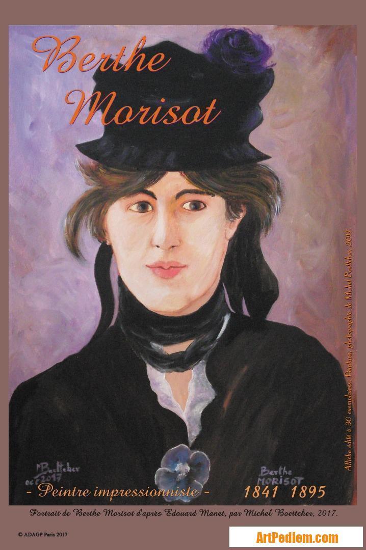 Oeuvre affiche Berthe Morisot de l'Artiste Michel Boettcher