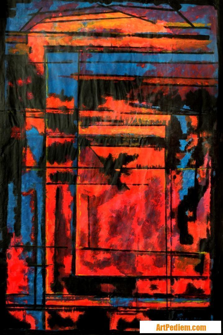Oeuvre Effet de vitrage colorisés 01 de l'Artiste Michel Boettcher