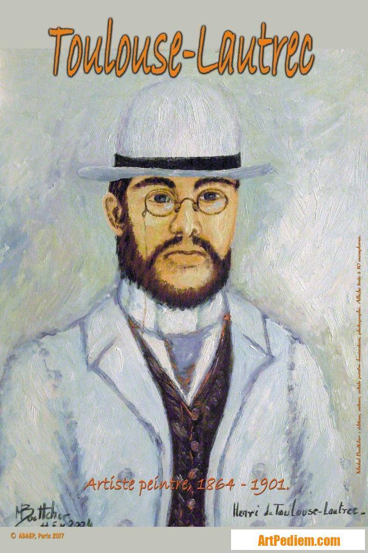 Oeuvre affiche Toulouse Lautrec de l'Artiste Michel Boettcher
