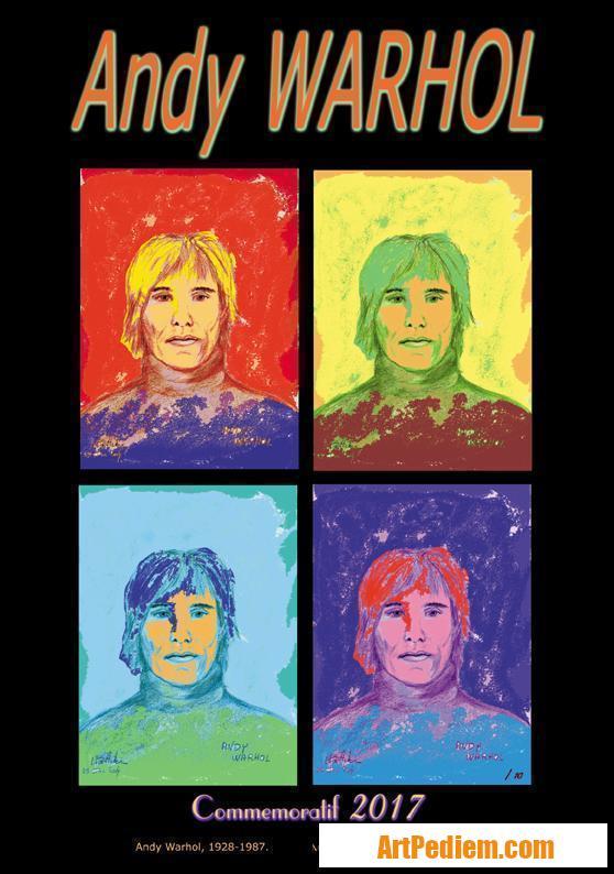 Oeuvre affiche Andy Warhol de l'Artiste Michel Boettcher