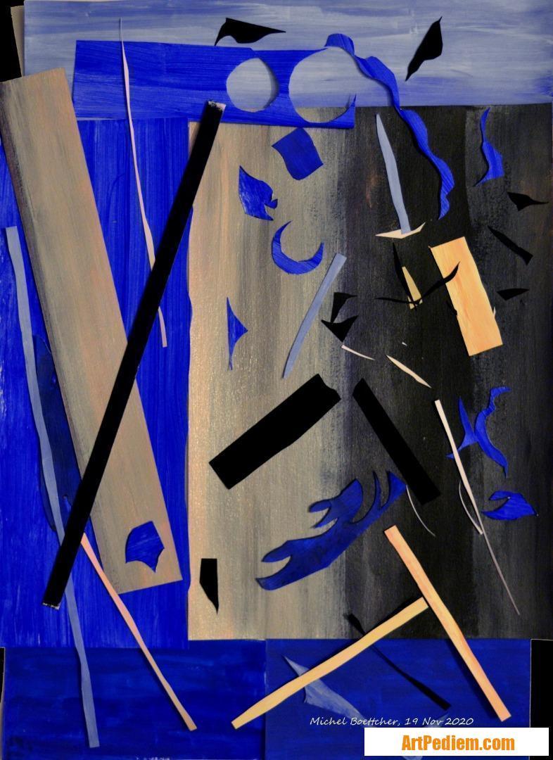 Oeuvre Papiers peints 04 de l'Artiste Michel Boettcher