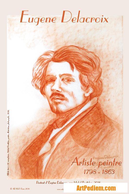 Oeuvre affiche Eugène Delacroix de l'Artiste Michel Boettcher