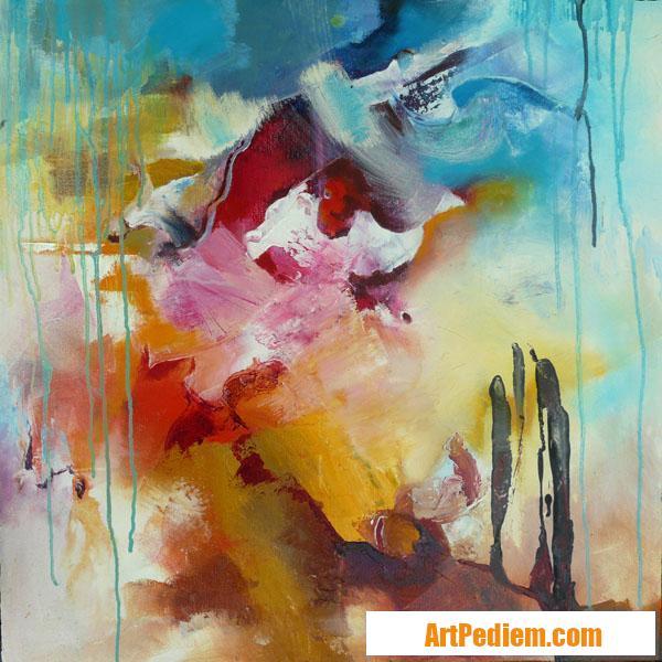 Oeuvre COULEUR 2012 05 02 HUILE 60X60CM de l'Artiste DELPLACE anne