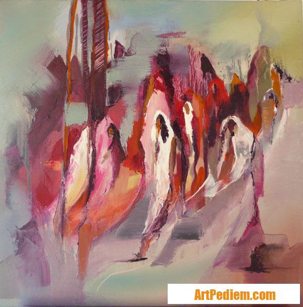 Oeuvre PUISSANCE 2012 05 01 HUILE 60X60CM de l'Artiste DELPLACE anne