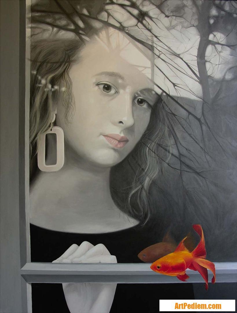 Oeuvre Le poisson rouge de l'Artiste Palluy