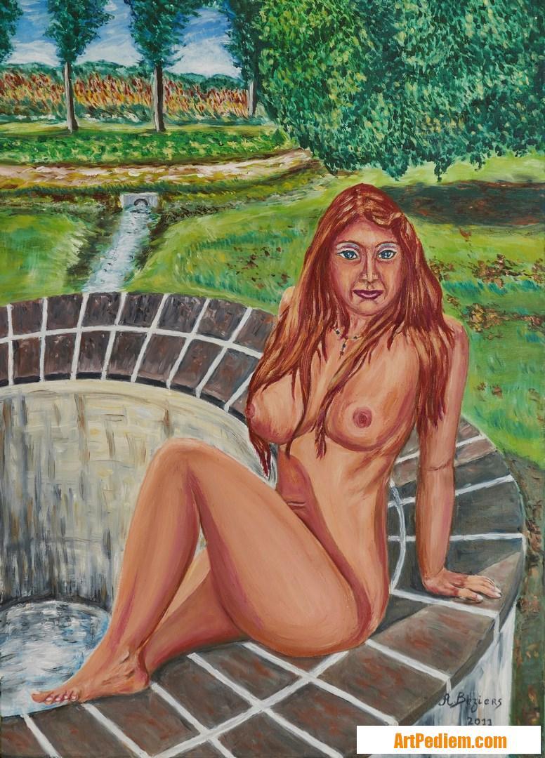 Oeuvre Près du puits de l'Artiste ALAIN BEZIERS